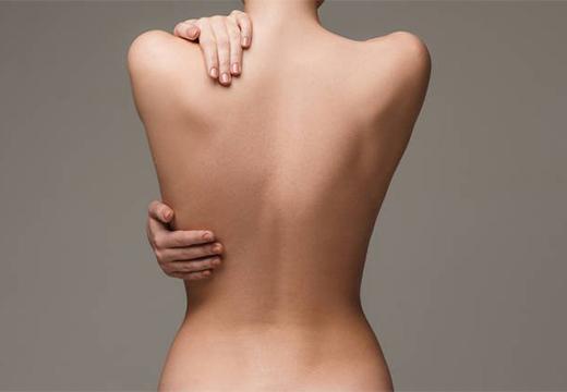 чистая кожа спины