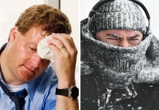 мужчине жарко и холодно