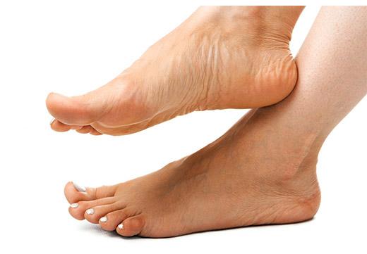 здоровая кожа ступней