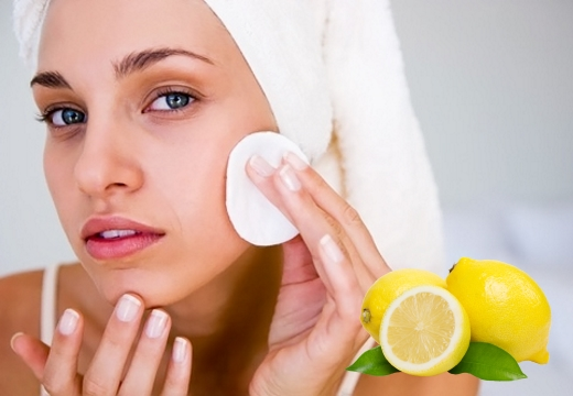 протирать лицо лимон