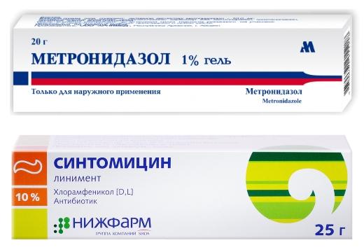 метронидазол синтомицин
